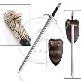 "China 440 Stainless Steel 42"" Moviesword Game Of Thrones Jon Snow Longclaw Sword supplier"