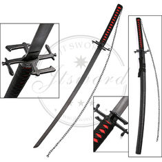 China 41 Inch Anime Greatsword Bleach Ichigo Tensa Zangetsu Katana Sword Sale supplier