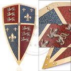 "China 17.7"" x 30.7"" Wall Decor Metal Medieval Shields , Medieval Black Prince Shield factory"