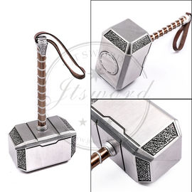 China Zinc Alloy 20cm Antique Silver Mini Mjolnir Thor's Hammer Toy For Gifts factory