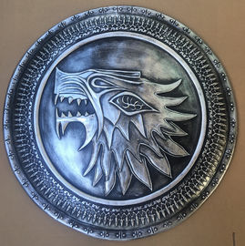 Full Scale Medieval Shields , Stark Infantry Resin Shield For Home Decor