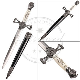 Steel Masonic Short Sword Antique Imitation Style Spear - Point Shape