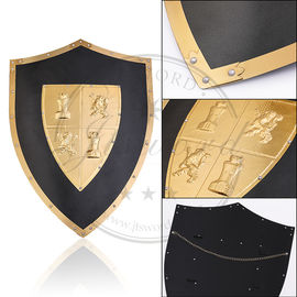Handmade Medieval Times Shield Metal Wall Decor With Brass Center Crest