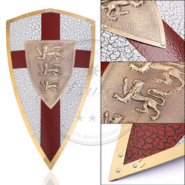 Full Size Decorative Lion Heart Shield Stainless Steel Outstanding Display Piece